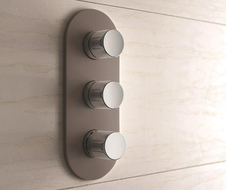 3 hole chromed brass shower mixer MACÒ | 3 hole shower mixer - GEDA