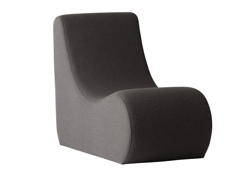 Upholstered fabric armchair WELLE 2 - Verpan