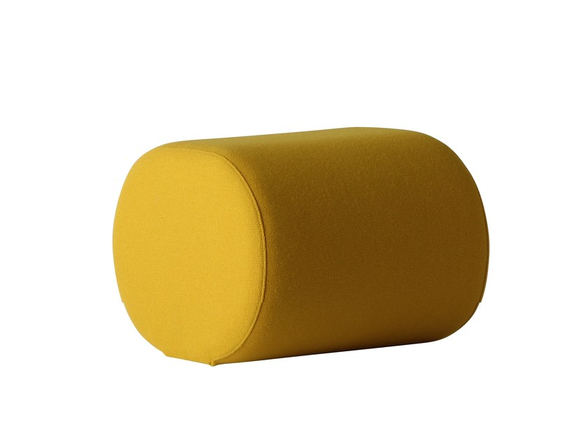 Upholstered fabric pouf WELLE 6 - Verpan