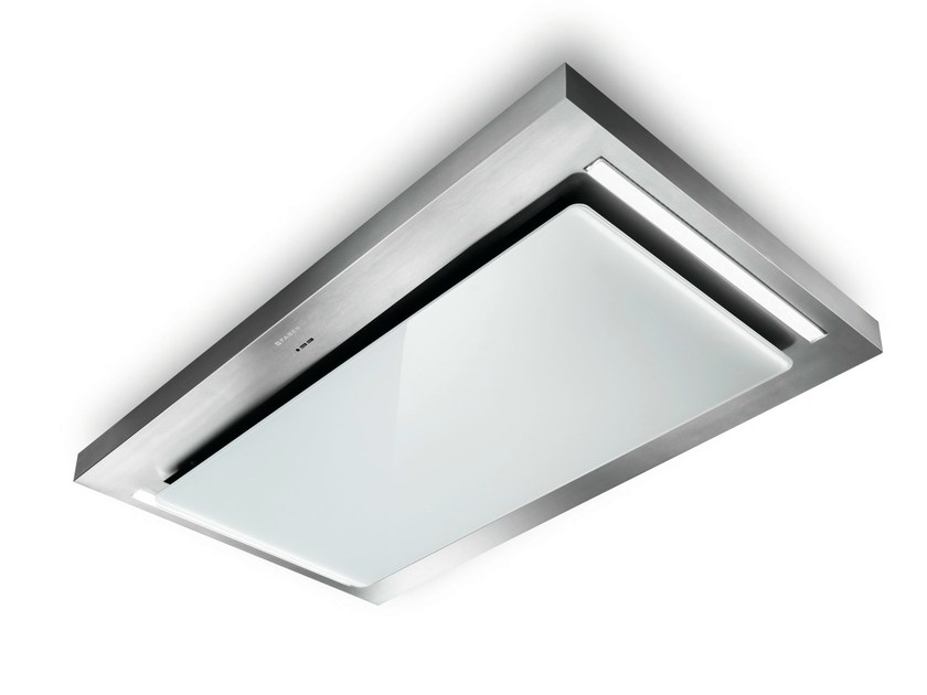 Ceiling-mounted built-in Glass and Stainless Steel cooker hood SKYPAD - FABER