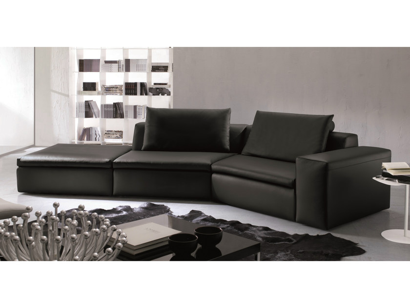 Corner sofa BRYAN | Leather sofa - Bontempi Casa