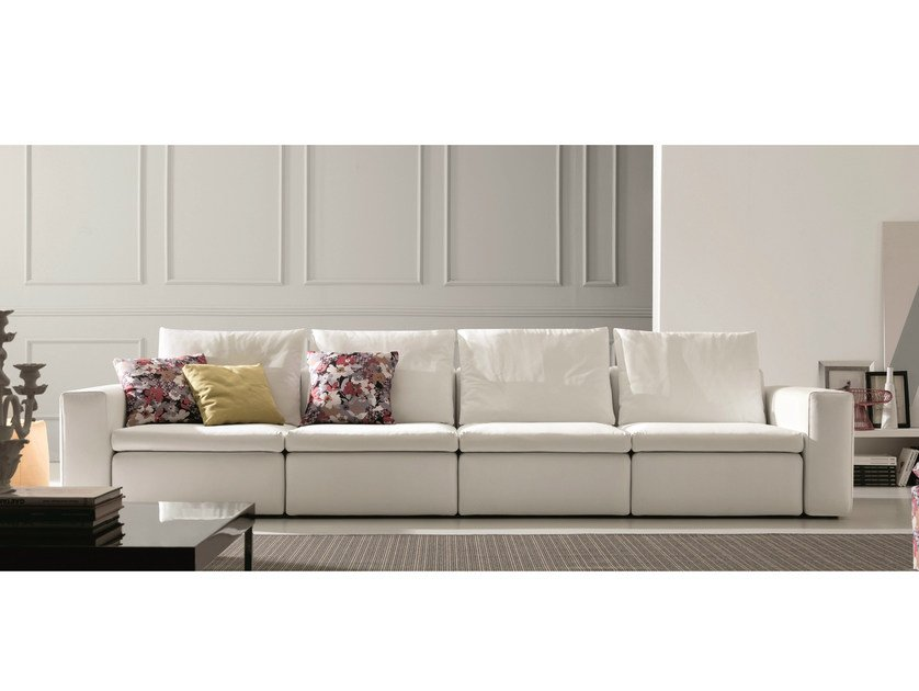 Leather sofa BRYAN | 5 seater sofa - Bontempi Casa