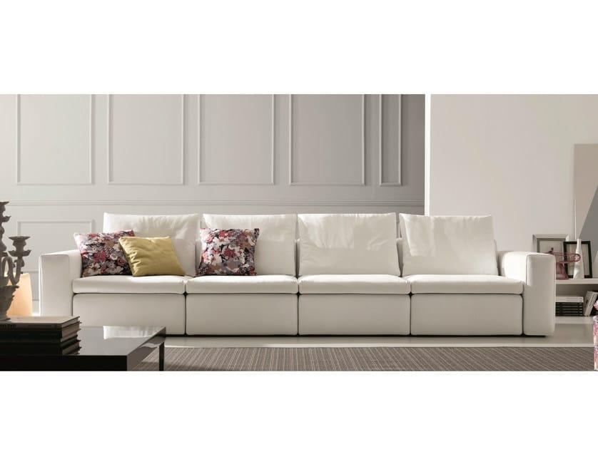 Leather sofa BRYAN | 5 seater sofa by Bontempi Casa