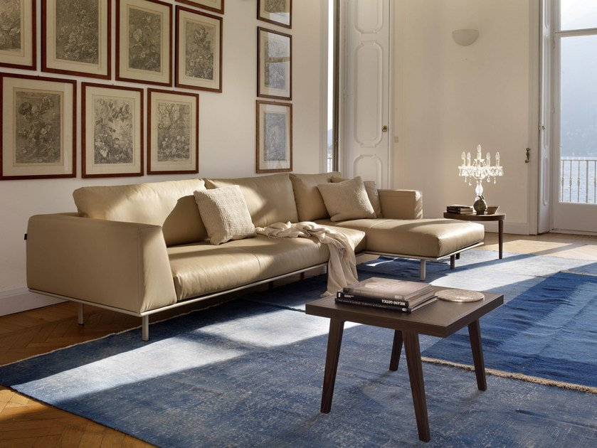Corner sofa DAKOTA | Leather sofa - Bontempi Casa
