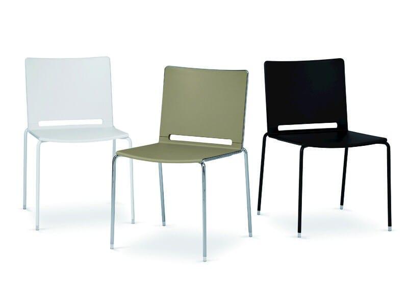 Chair 4 legs FILÒ PLASTIC   Stackable chair - Diemmebi