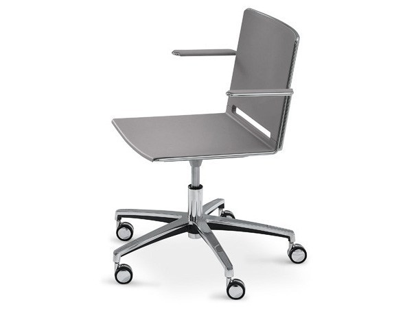 Polypropylene task chair with armrests FILÒ PLASTIC | Chair with 5-spoke base - Diemmebi