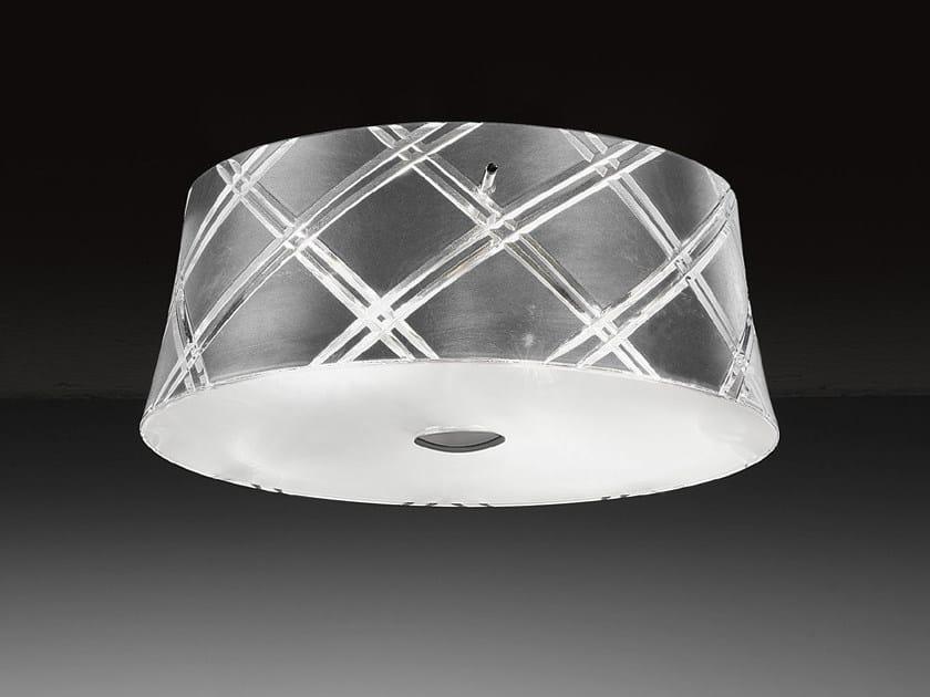 Silver leaf ceiling light CORALLO | Ceiling light - Metal Lux di Baccega R. & C.