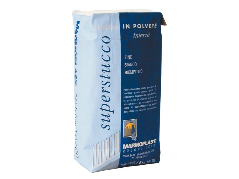 Skim coat and cementitious finish for plaster SUPERSTUCCO INTERNI by Marmoplast