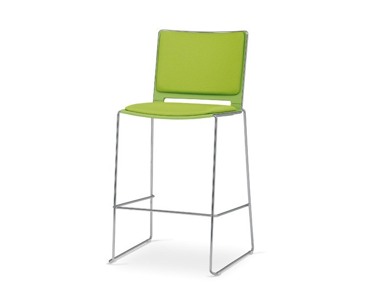 Stackable counter stool FILÒ SOFT | Counter stool - Diemmebi