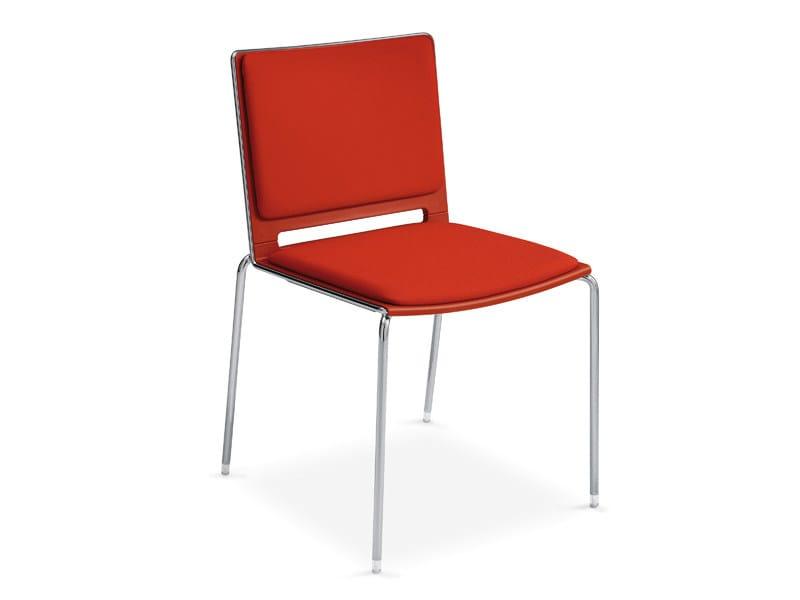 Upholstered stackable chair FILÒ SOFT | Stackable chair - Diemmebi