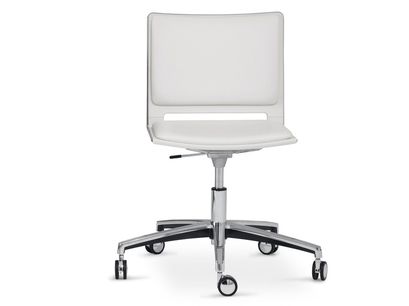 Task chair with 5-Spoke base with casters FILÒ SOFT | Chair with casters - Diemmebi