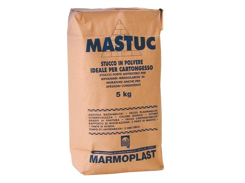 Skim coat and cementitious finish for plaster MASTUC by Marmoplast