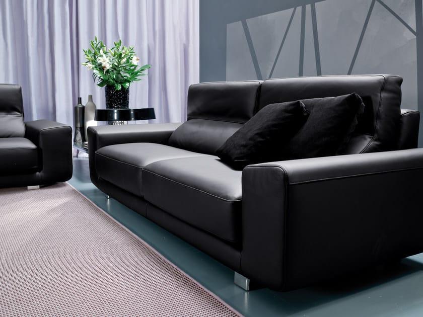 2 seater sofa KLAUS | Leather sofa by Bontempi Casa