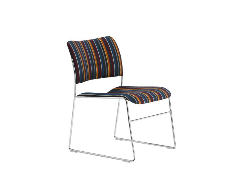 Sled base Stackable visitor's chair 40/4 | Reception chair by Howe