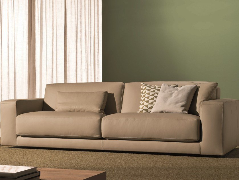 Leather sofa SOFT | 3 seater sofa - Bontempi Casa