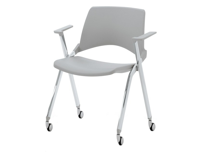 Folding plastic chair with armrests KENDÒ PLASTIC | Folding chair - Diemmebi