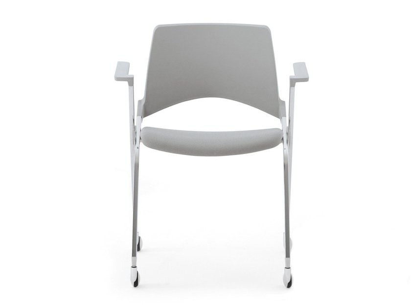 Folding chair with armrests KENDÒ SOFT | Folding chair - Diemmebi