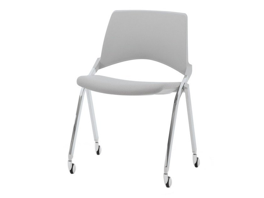 Folding chair with casters KENDÒ SOFT | Chair with casters - Diemmebi