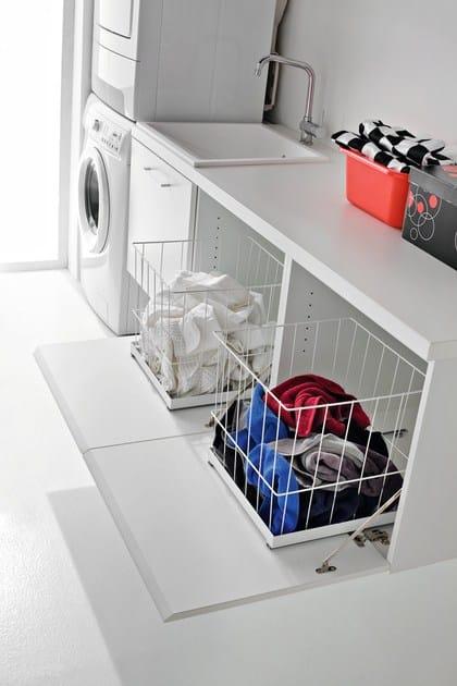 mobile lavanderia laccato in nobilitato con lavatoio idrobox mobile lavanderia sospeso birex. Black Bedroom Furniture Sets. Home Design Ideas