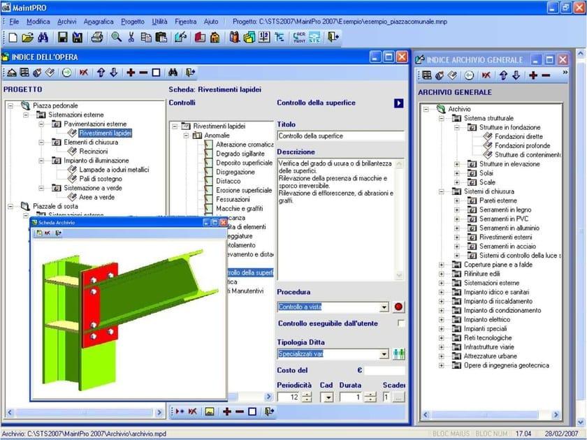 Building maintenance MaintPRO - S.T.S. SOFTWARE TECNICO SCIENTIFICO