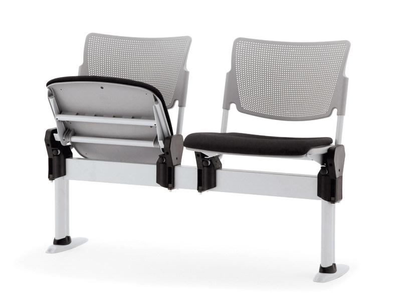 Beam seating with tip-up seats LAMIA EASY SOFT | Beam seating - Diemmebi