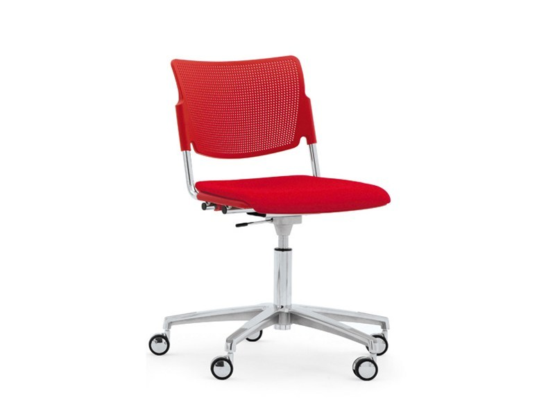 Waiting room chair with 5-Spoke base with casters LAMIA EASY SOFT | Chair with casters - Diemmebi