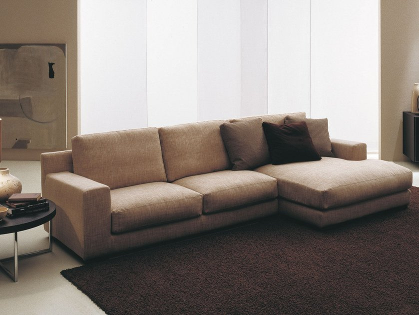 Fabric sofa with removable cover MIDA | Corner sofa by Bontempi