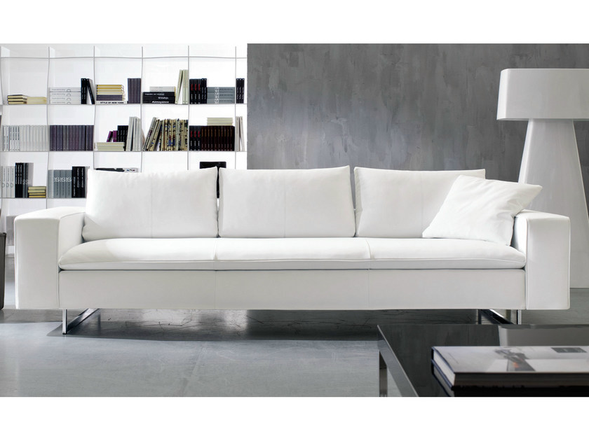 3 seater sofa PLANET | Leather sofa - Bontempi Casa