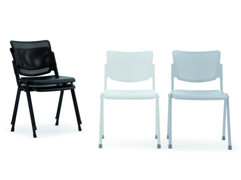 Stackable plate waiting room chair LAMIA METAL | Stackable waiting room chair - Diemmebi