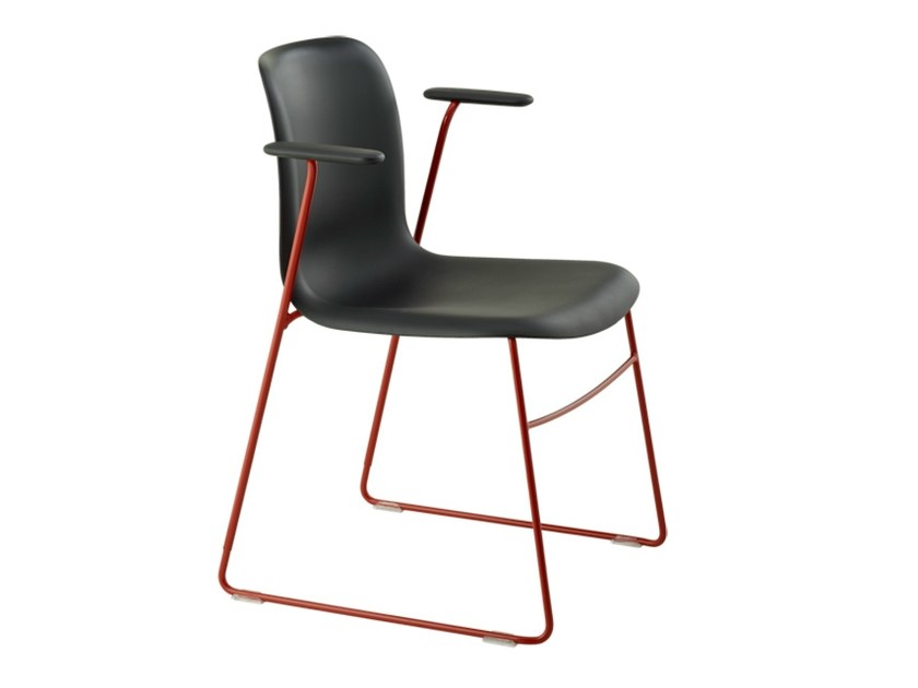 Sled base chair with armrests SIXE | Chair with armrests - HOWE