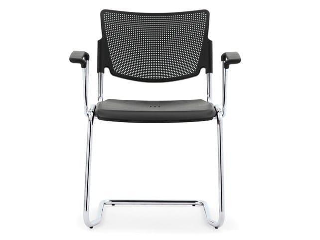 Stackable polypropylene waiting room chair with Armrests LAMIA PLASTIC | Waiting room chair with Armrests - Diemmebi