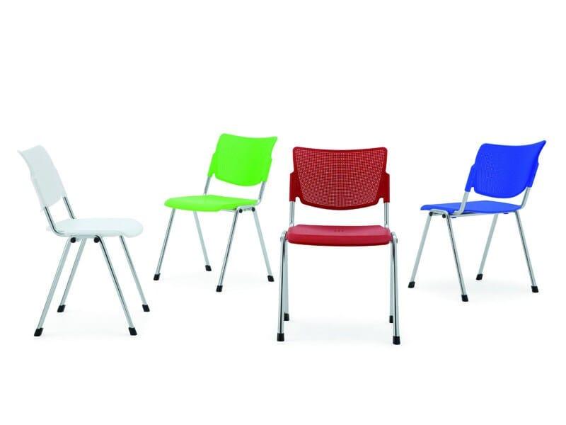 Stackable polypropylene waiting room chair LAMIA PLASTIC | Waiting room chair - Diemmebi