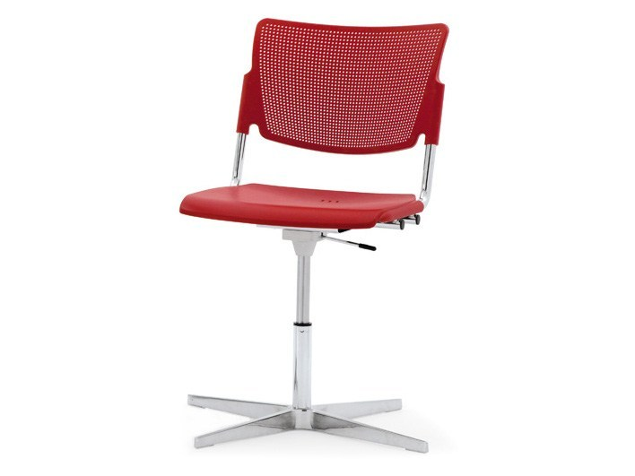Polypropylene waiting room chair with 4-Spoke base LAMIA PLASTIC | Waiting room chair with 4-Spoke base - Diemmebi