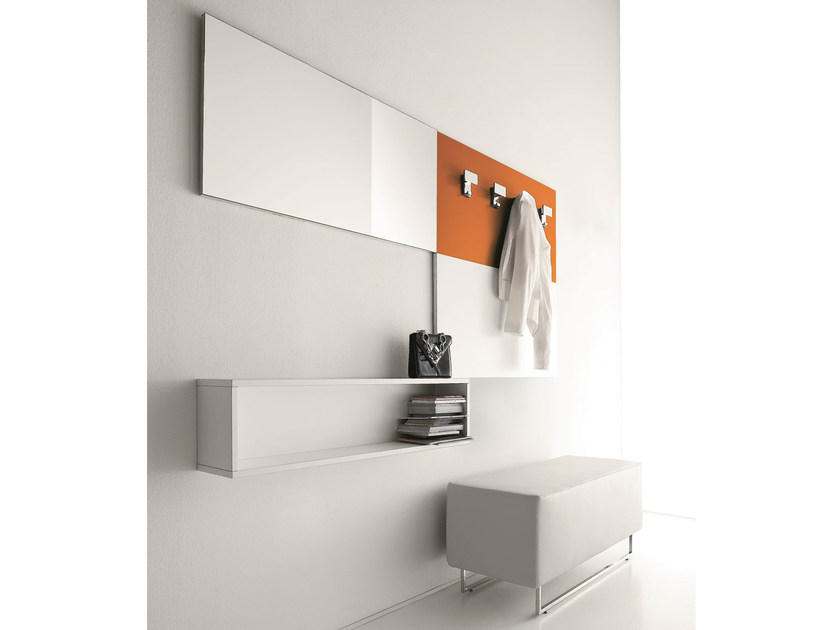 Sectional lacquered wall-mounted hallway unit CINQUANTA | Wall-mounted hallway unit - Birex