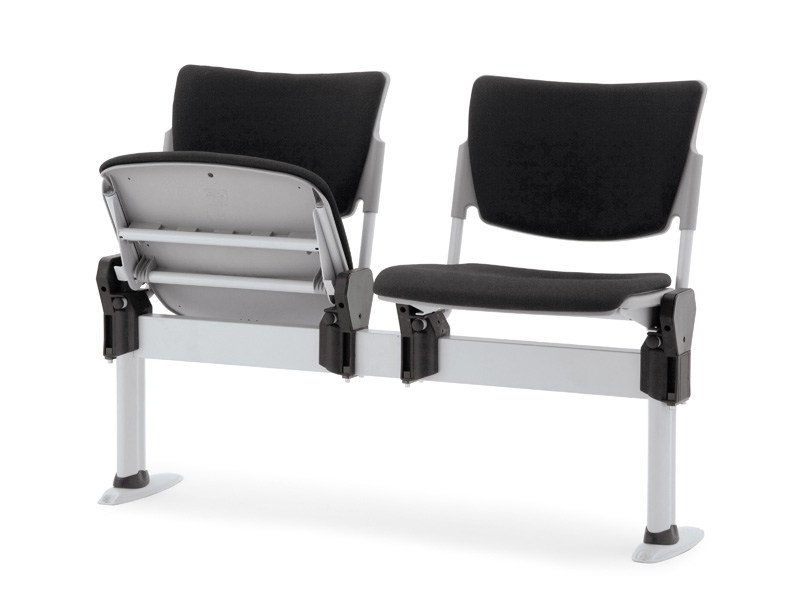 Beam seating with tip-up seats LAMIA SOFT | Beam seating with tip-up seats - Diemmebi