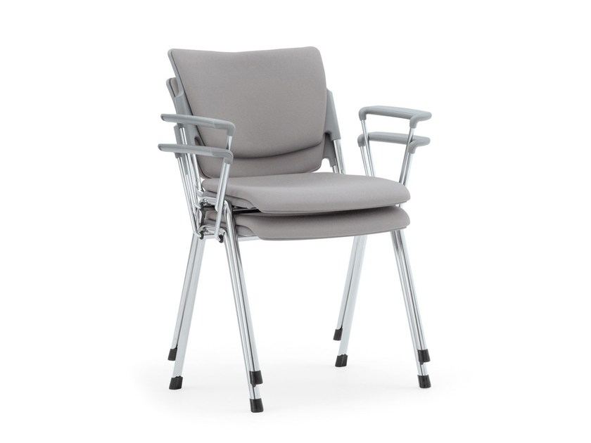 Stackable waiting room chair with Armrests LAMIA SOFT | Stackable waiting room chair - Diemmebi