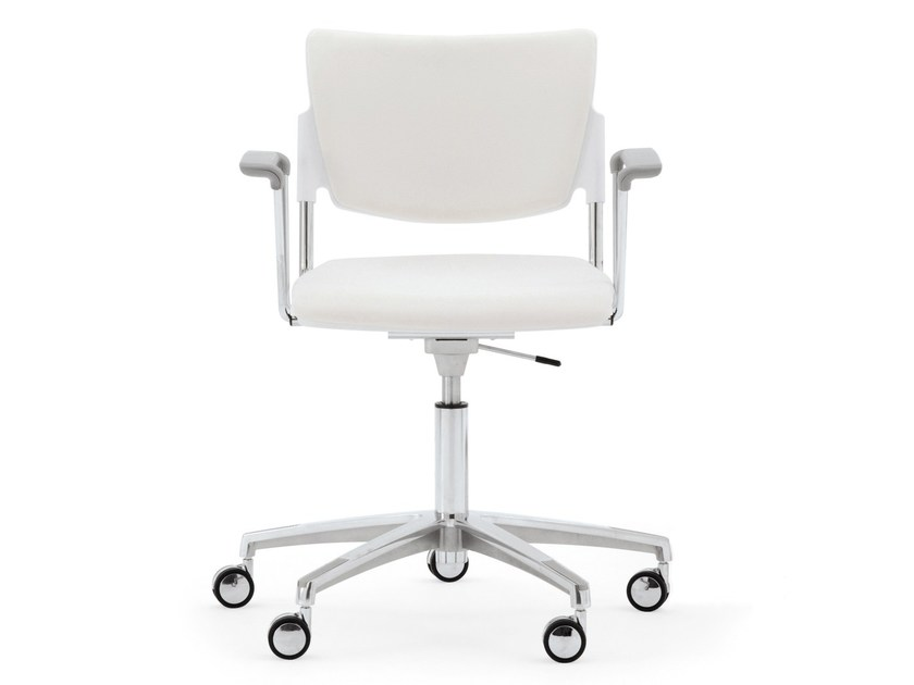 Chair with 5-spoke base with armrests LAMIA SOFT | Chair with 5-spoke base - Diemmebi