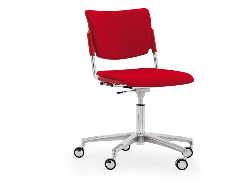 Chair with 5-spoke base with casters LAMIA SOFT | Chair with casters - Diemmebi