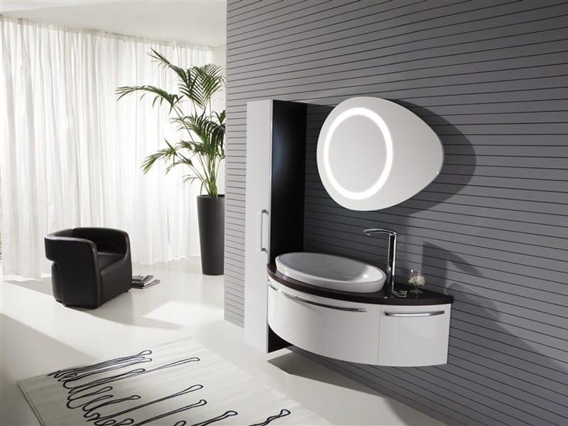 Lacquered wall-mounted vanity unit GENIUS G210 - LEGNOBAGNO
