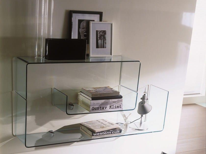 Crystal wall shelf OSAKA by Bontempi Casa