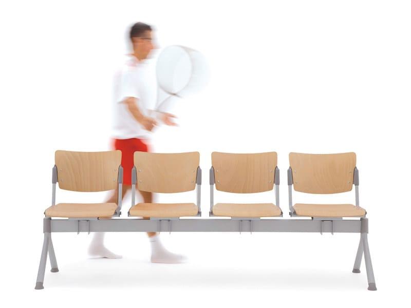 Beech beam seating LAMIA WOOD | Beam seating - Diemmebi
