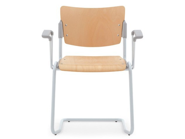 Beech waiting room chair with Armrests LAMIA WOOD | Waiting room chair with Armrests - Diemmebi