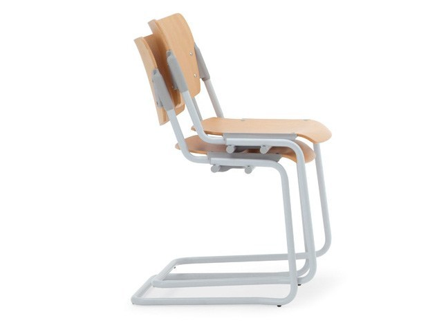 Stackable beech waiting room chair LAMIA WOOD | Beech waiting room chair - Diemmebi