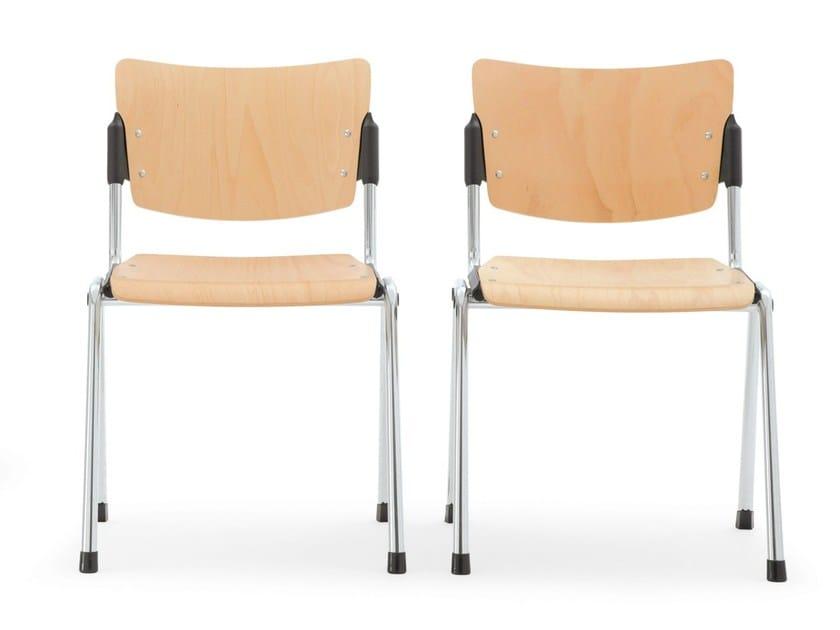 Beech waiting room chair LAMIA WOOD | Waiting room chair - Diemmebi