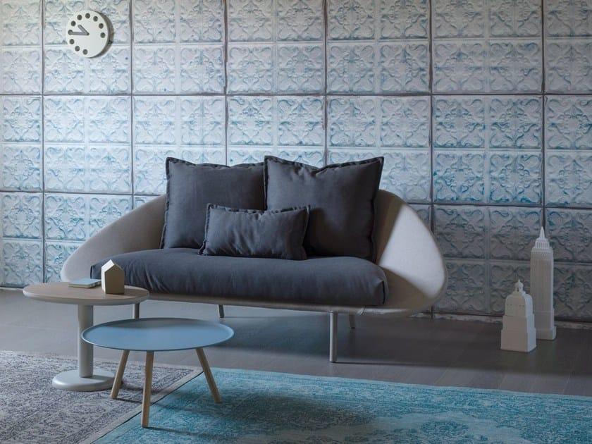 2 seater fabric sofa LEM | 2 seater sofa by Miniforms