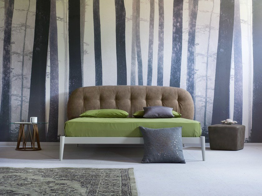 Double bed with upholstered headboard SHIKO PUNTO by Miniforms