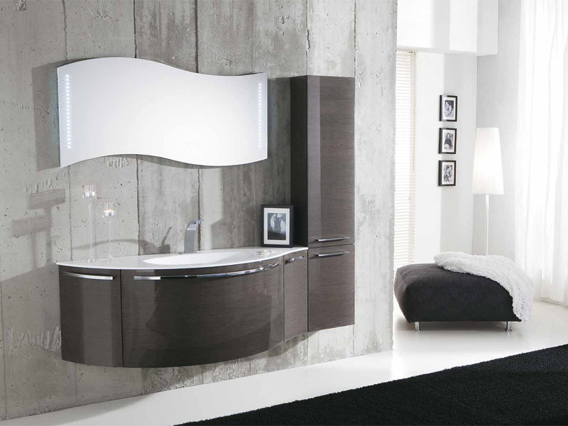 Single wall-mounted vanity unit GENIUS G212 by LEGNOBAGNO