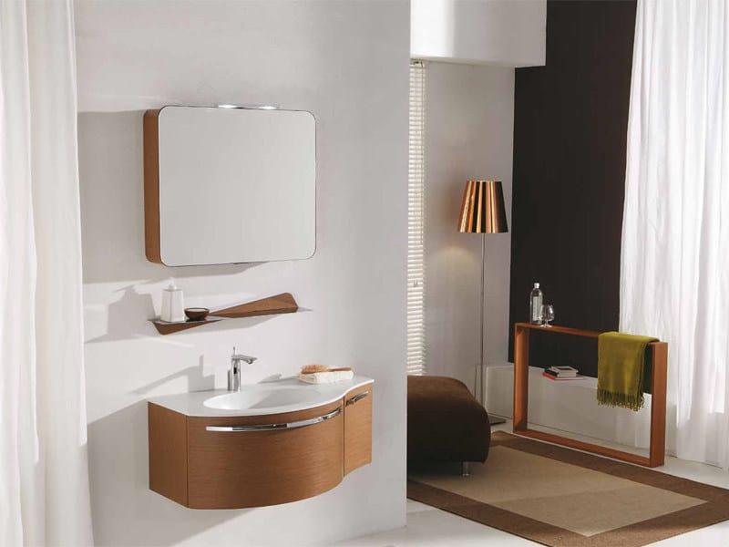 Sectional vanity unit with mirror GENIUS G214 - LEGNOBAGNO