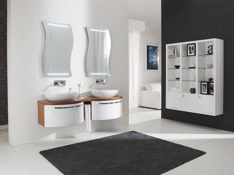 Mobile lavabo doppio sospeso genius g215 by legnobagno - Legnobagno prezzi ...