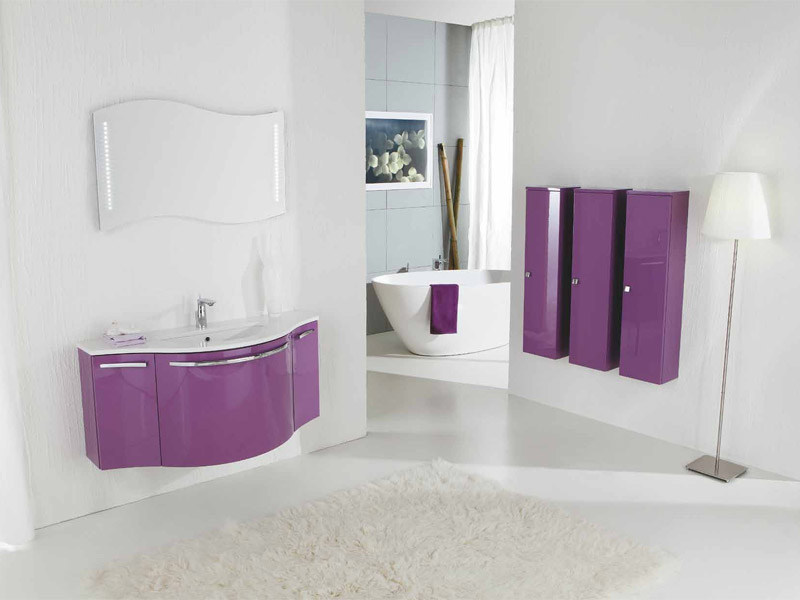 Lacquered vanity unit with drawers GENIUS G216 by LEGNOBAGNO